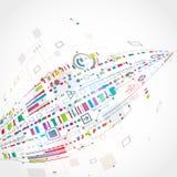Fondo tecnológico abstracto Imágenes de archivo libres de regalías