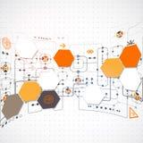 Fondo tecnológico abstracto Fotos de archivo