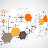 Fondo tecnológico abstracto Fotografía de archivo libre de regalías