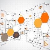 Fondo tecnológico abstracto Imagenes de archivo