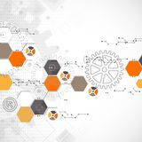 Fondo tecnológico abstracto Imagen de archivo