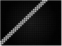 Fondo tecnológico abstracto bajo la forma de mosaico negro con una raya blanca stock de ilustración