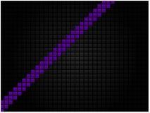 Fondo tecnológico abstracto bajo la forma de mosaico negro con una raya púrpura libre illustration