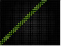 Fondo tecnológico abstracto bajo la forma de mosaico negro con una raya verde libre illustration
