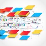 Fondo tecnológico abstracto con el diverso ele tecnológico Imagen de archivo libre de regalías