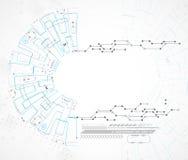 Fondo tecnológico abstracto con el diverso ele tecnológico Foto de archivo libre de regalías