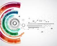 Fondo tecnológico abstracto con los diversos elementos Imagen de archivo libre de regalías
