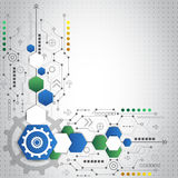 Fondo tecnológico abstracto con los diversos elementos tecnológicos Foto de archivo