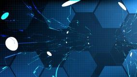 Fondo tecnológico abstracto del interfaz del espacio del hud del vector Imagenes de archivo