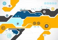 Fondo tecnológico abstracto del tema Vector libre illustration