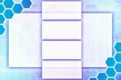 Fondo tecnológico abstracto que consiste en un sistema del hexágono Imagen de archivo libre de regalías