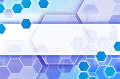 Fondo tecnológico abstracto que consiste en un sistema del hexágono Foto de archivo libre de regalías