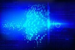 Fondo tecnológico con la pista humana ilustración del vector