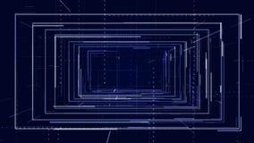 Fondo tecnológico de colocación Líneas, rayas Color azul ilustración del vector