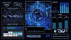 Fondo tecnológico de HUD Futuristic