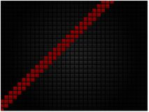 Fondo tecnológico geométrico abstracto bajo la forma de mosaico negro con una raya roja ilustración del vector