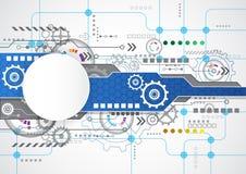 Fondo tecnologico astratto con i vari elementi tecnologici vettore dell'illustrazione illustrazione di stock
