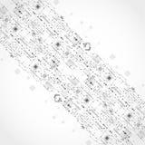 Fondo tecnologico astratto con vario ele tecnologico illustrazione di stock