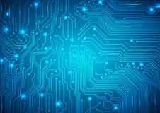 Fondo tecnologico di vettore con una struttura del circuito Fotografie Stock