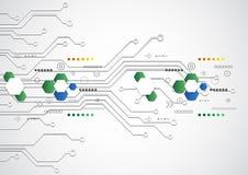 Fondo tecnologico futuristico astratto con i vari elementi tecnologici, vettore royalty illustrazione gratis