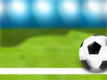 Fondo tedesco della palla di calcio 3D di calcio di bandiera Immagini Stock Libere da Diritti