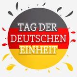 Fondo tedesco di concetto di giorno di unità, stile disegnato a mano illustrazione vettoriale
