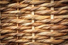 Fondo tejido de la cesta de mimbre Fotografía de archivo libre de regalías