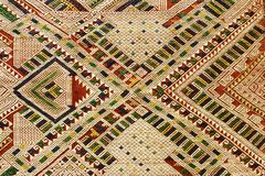Fondo tejido mano de la materia textil, Laos imagenes de archivo