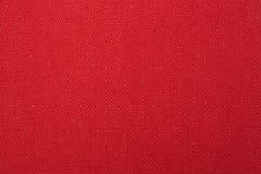 Fondo tejido rojo de la textura de la tela Fotografía de archivo libre de regalías