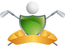 Fondo temático del golf - blindaje verde Foto de archivo libre de regalías