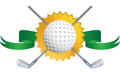 Fondo temático del golf - sello Imágenes de archivo libres de regalías