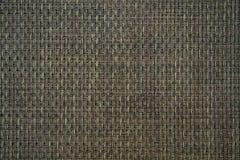 Fondo tessuto marrone a quadretti normale di struttura della stuoia immagini stock