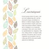 Fondo Textured de las hojas Línea inconsútil Imagen de archivo