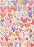 Fondo Textured de los corazones Imagenes de archivo