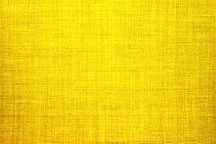 Fondo texturizado de la materia textil natural amarilla imagen de archivo libre de regalías