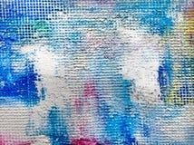 Fondo texturizado de la pintura en lona fotografía de archivo