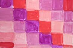 Fondo texturizado extracto de la acuarela con los cuadrados multicolores ilustración del vector