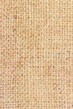 Fondo texturizado marrón de la harpillera Foto de archivo libre de regalías