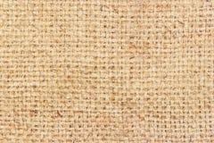 Fondo texturizado marrón de la harpillera Fotografía de archivo