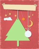 Fondo texturizado Tarjeta-Grunge del saludo de la Navidad Imagen de archivo libre de regalías