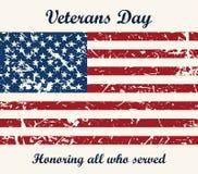 Fondo texturizado vintage de la bandera americana Vector stock de ilustración