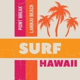 Fondo tipográfico de la cita creativa sobre practicar surf Imagenes de archivo