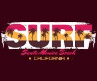 Fondo tipográfico de la cita creativa sobre practicar surf Foto de archivo libre de regalías