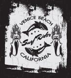 Fondo tipográfico de la cita creativa sobre practicar surf Fotos de archivo libres de regalías