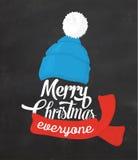 Fondo tipográfico de la Navidad Fotos de archivo libres de regalías