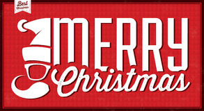 Fondo tipográfico de la Navidad del vintage ilustración del vector