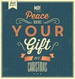 Fondo tipográfico de la Navidad del vintage stock de ilustración