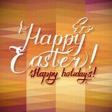 Fondo tipográfico feliz de Pascua Fotografía de archivo libre de regalías