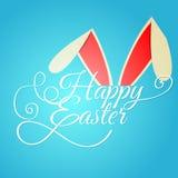 Fondo tipográfico feliz de Pascua stock de ilustración