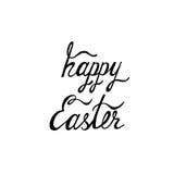 Fondo tipográfico feliz de Pascua Inscripción caligráfica: Pascua feliz Imagen de archivo